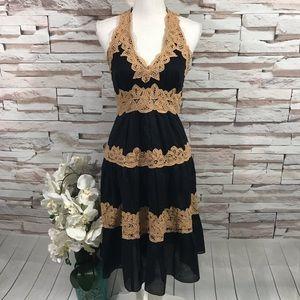 Bcbgmaxazria Halter Dress Sz 4 (K30)